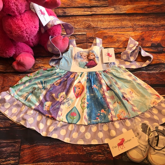 Frozen Girls Boutique Twirl Dress Elsa Anna